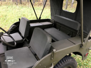 Willys MB 1943 года - салон